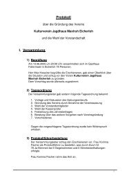 Protokoll I. Versammlung - Kulturverein Jagdhaus Maxlruh Eicherloh ...