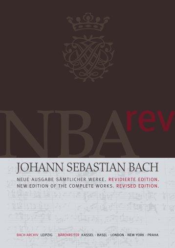 Johann SebaStian bach - JW Pepper