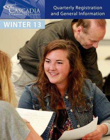 WINTER 13 - Cascadia Community College