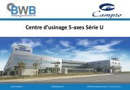 Centre d'usinage 5-axes Série U - BWB Werkzeugmaschinen AG