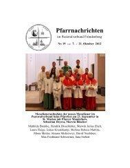 Pfarrnachrichten - Pastoralverbund Fröndenberg - Startseite
