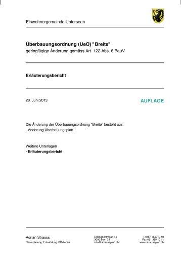 130627 AEnderung Ue O Breite Erl B Auflage - Unterseen