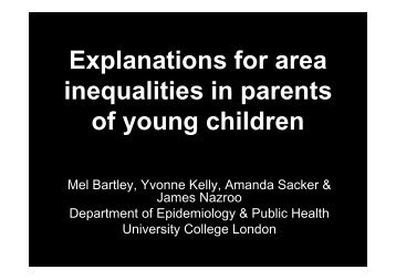 Explanations for area inequalities in parents of young children