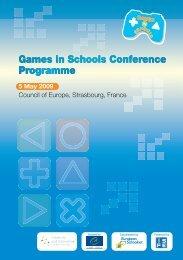 Download the programme - Games in Schools - European Schoolnet