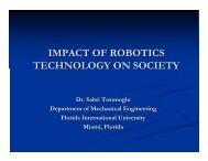 IMPACT OF ROBOTICS TECHNOLOGY ON SOCIETY - Engineering ...