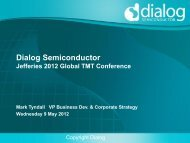 Dialog Semiconductor Plc (XTRA:DLG) - Jefferies