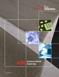 AlN Aluminum Nitride Substrates - CoorsTek