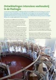 Ontwikkelingen intensieve veehouderij in de Peelregio
