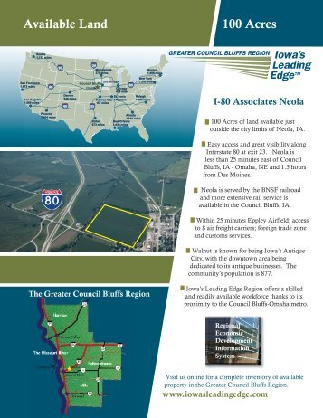 Available Land 100 Acres - Council Bluffs Area Chamber of ...