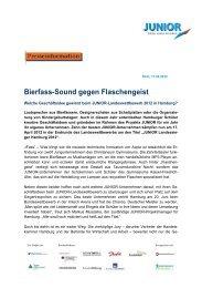 Bierfass-Sound gegen Flaschengeist - Junior