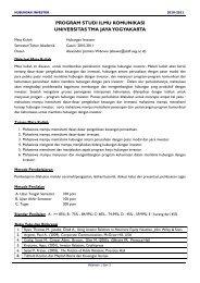 0bpprogram studi ilmu komunikasi universitas ... - Investor Relations