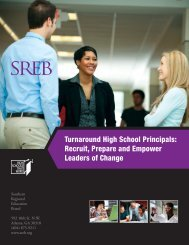 Turnaround High School Principals - Southern Regional Education ...