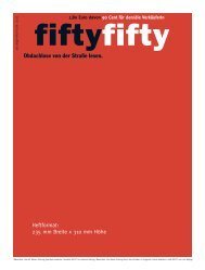 Anzeigenformate 2011 (PDF) - Fiftyfifty
