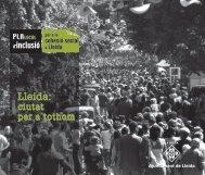 Pla Local d'inclusió - Benestar Social - Ajuntament de Lleida