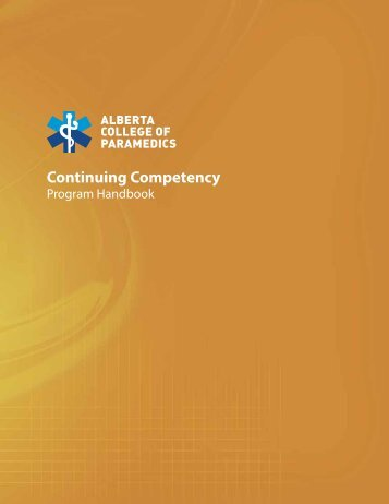 Continuing Competency - Alberta College of Paramedics