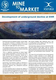 Mine to Market - December 2007 - Ernest Henry Mining