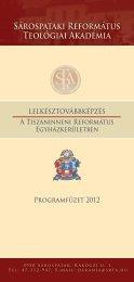 Programfüzet -2012 - Sárospataki Református Teológiai Akadémia