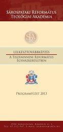 Továbbképző füzet - Sárospataki Református Teológiai Akadémia