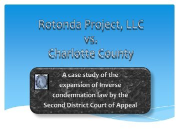 Rotonda Project, LLC v. Charlotte County - Florida Association of ...