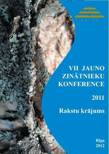VII JAUNO ZINĀTNIEKU KONFERENCE 2011 Rakstu krājums - rpiva