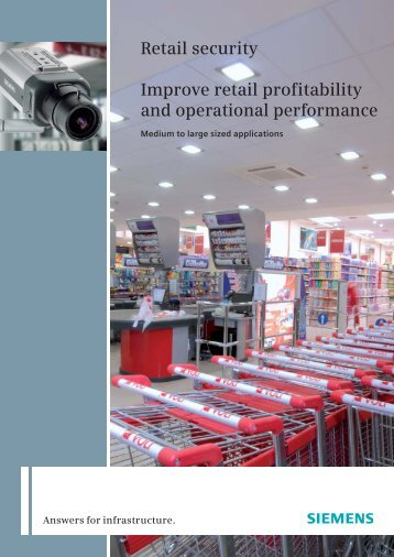 Retail security Improve retail profitability and operational performance