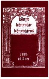 Könyv, könyvtár, könyvtáros. 1995. október - EPA - Niif