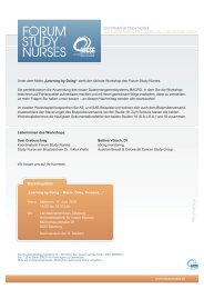Download Einladung + Programm - Forum Study Nurses ...