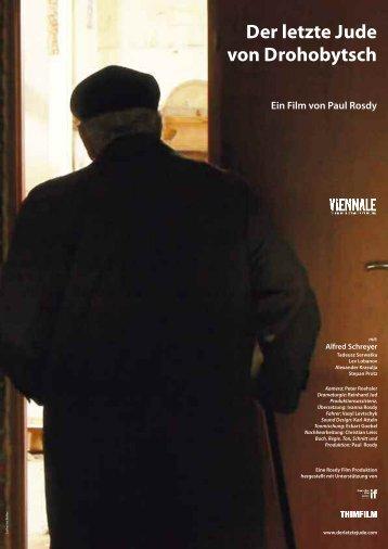 Der Letzte Jude von Drohobytsch - Presseheft - Austrianfilm