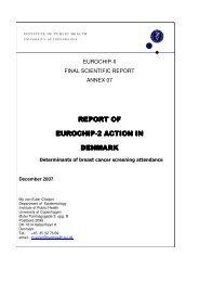 REPORT OF REPORT OF EUROCHIP-2 ACTION IN DENMARK
