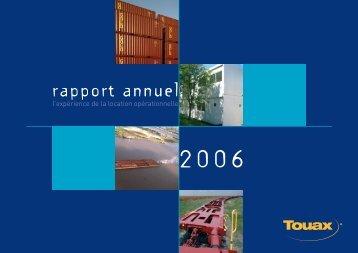 Rapport annuel 2006 - Touax