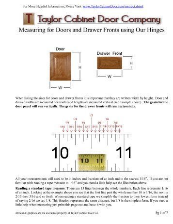 Measuring for Doors and Drawer Fronts using Our Hinges - Ordering .  sc 1 st  Yumpu & Order Form #1 -- Cabinet Doors u0026 Drawer Fronts Order Form #1 ... pezcame.com