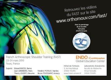 ENDO*smith&nephew - Société française d'arthroscopie