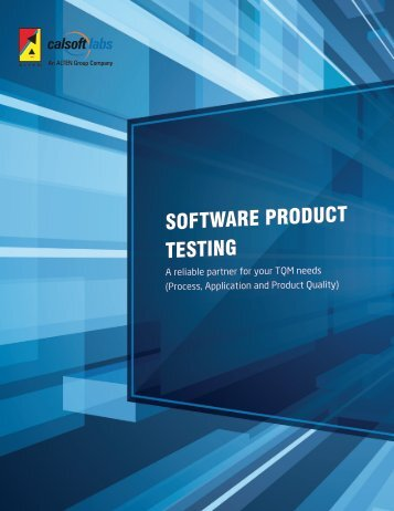 Software Product Testing - Testing Services - Calsoft Labs