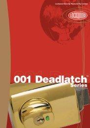 Deadlatch Catalogue (340.65 Kb) - Interior Effects