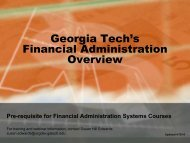 Business Services - Georgia Institute of Technology