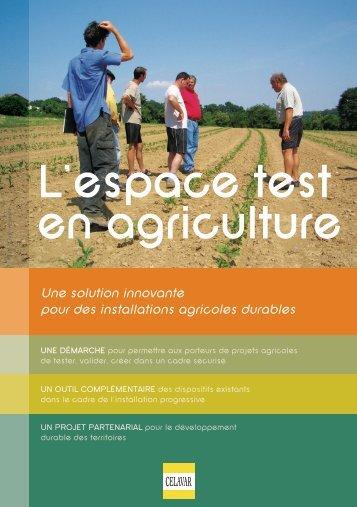 L'espace test en agriculture : une solution innovante pour - civam