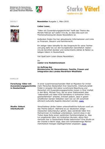 INHALT Newsletter Ausgabe 1, März 2010 Editorial Lieber Leser ...