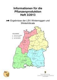 Heft 3-2013 Winterroggen Wintertriticale - LTZ Augustenberg