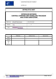 ertms/etcs unit interfaces between control-command and ... - ERA