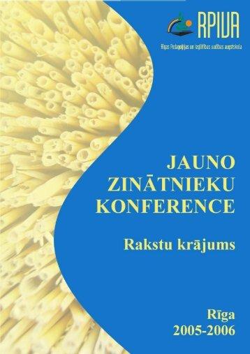 Jauno zinātnieku konferences rakstu krājums - rpiva