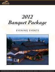 Evening Events 2012 - Westwood Plateau Golf and Country Club