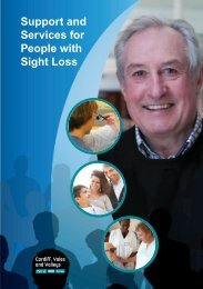 Support and Services for People with Sight Loss