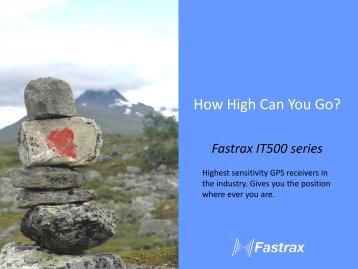 Fastrax IT500 series brochure - Glyn Store