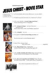 Beobachtungsprotokoll zu Jesus Christ Moviestar