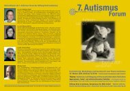 7. Autismus Forum - Stiftung KInd & Autismus