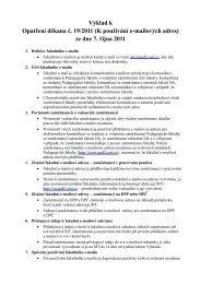 Výklad k Opatření děkana č. 19/2011 - Středisko informačních ...