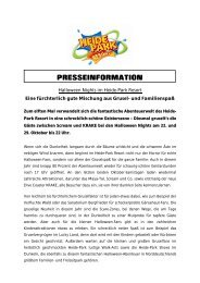 PRESSEINFORMATION - Heide-Park Resort