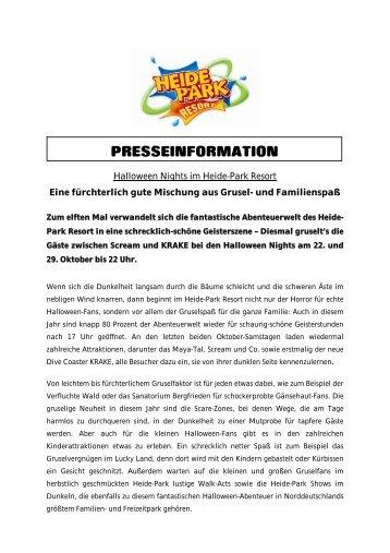 PRESSEINFORMATION - Heide-Park Resort