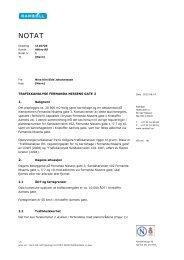 TRAFIKKANALYSE FERNANDA NISSENS GATE 3 1. 2. - Plan