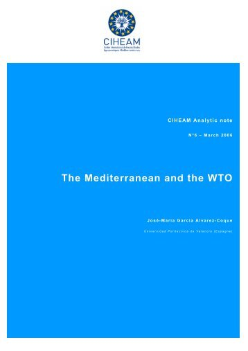 The Mediterranean and the WTO